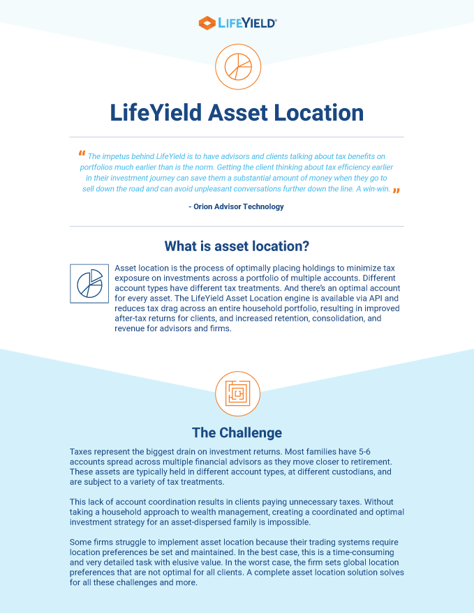 The LifeYield Asset Location One-Pager
